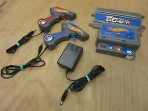 HOT WHEELS GO FOR IT TURBO BOOST Slot Car Power Supply and 2 Controllers