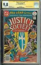 All-Star Comics #66 SS CGC 9.8 x2 Auto Levitz Staton Signed JSA Wildcat