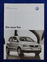 VW Fox - Preisliste MJ 2006 - Prospekt Brochure 04.2005