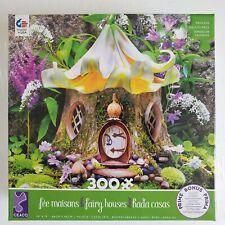 "Ceaco 300 Piece Puzzle Fairy Houses Lily Tea House 19"" x 19"" Oversized Pieces"