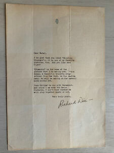 Cimarron Film Actor Richard Dix 1930 Studio Letterhead Signed Fan Letter