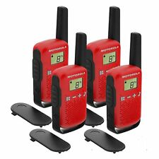 4 x Motorola TALKABOUT T42 Quad Pack Two-Way Radios in Red PMR 446 Compact