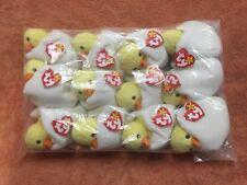 TY Beanie Baby Eggbert, 1 Dozen Wholesale Lot, NEW, PE Pellets, China, MWMT