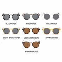 Classic Mens Vintage Keyhole Horned Rim Plastic Retro Round Sunglasses UV400 New