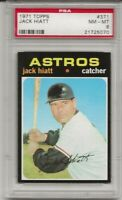 SET BREAK -1971 TOPPS # 371 JACK HIATT, PSA 8 NM-MT, ASTROS, CENTERED L@@K !