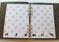 Filofax A5 Organiser Planner - Beautiful Paper with Lines & Dogs - 20 pages