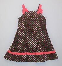 "Gymboree ""Tea for Two"" Multi Color Polka Dot Brown Summer Sun Dress, 6"