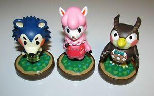 Lot of 3 Animal Crossing Amiibo's Mabel, Reese & Blathers Nintendo USA Versions