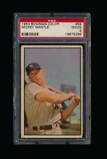 1953 Bowman Color #59 Mickey Mantle New York Yankees PSA 2 GOOD *A5266