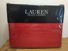 Ralph Lauren King Size Dunham Sateen Sheet Set Admiral Red Cotton 300TC NEW