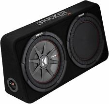 "KICKER 43TCWRT104 CAR/TRUCK 10"" COMPRT BOXED SUBWOOFER PRELOADED ENCLOSURE 4-OHM"