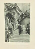 Gravure ancienne à l'eau forte XIXe- G CLAIRIN «PHILIPPE IV» salon 1888 rare