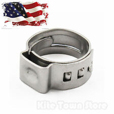 """50pcs 3/8"""" PEX 304 Stainless Steel  Clamp Cinch Ring Crimp Pinch Fitting Tubing"""