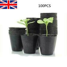 More details for 100x seedlings nursery nutrition pots plastic garden plant pot flower planter uk