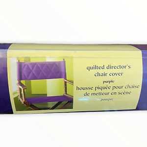Pier 1 One Imports Director's Chair Cover Purple New Open Box Quilted