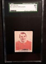 1967 67-68 IGA John Ferguson (22) SGC 40 VG Montreal Canadiens  Rare