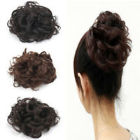 SCRUNCHIE PONY TAIL EXTENSION WRAP BUN HAIR PIECE CURLY BUN FASHION EXTENTION