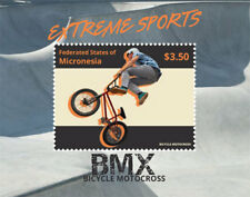 Micronesia- Extreme Sports- Bicycle Motorcross Stamp - Souvenir Sheet MNH