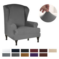 Stretch Wing Back Chair Couch Cover Sofa Slipcover Furniture Protector US