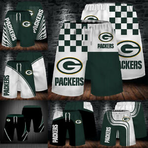 Green Bay Packers Sports Fit Shorts Summer Jogging Pants Swim Trunks Activewear