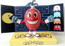 Arcade Game PAC-MAN Bandai ACTION FIGURE on Custom Display RED SPINNER