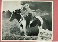 Movie Studio Promo Photograph Featuring Jack Randall in Pioneer Days