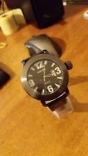 orologio uomo Animoo  bracciale pelle quadrante nero a2478 - cassa nera