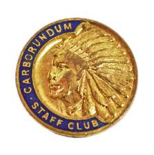 More details for carborundum company staff club members enamel lapel badge