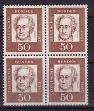 (D017) BUND ** Vierer 4er-Block Mi.-Nr. 356y - 50 Pf Bedeutende Deutsche