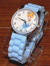Walt Disney (PRS504) Women's Cinderella Powder Blue Silicone Rubber Wrist Watch!