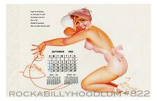Pin Up Girl Poster 11x17 George Petty girl calendar September 1956 telephone