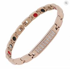 Authentic Negative Ion Effect Bracelet women's Swarovski Rose gold balance Sale!