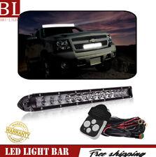 17Inch LED Light Bar Combo Beam Single Row+Wiring Harness For   SUV Honda ATV