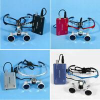 Dental Surgical Binocular Loupes Optical Glasses 420mm x3.5 + LED Lamp Dentaire