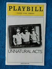 Unnatural Acts - Classic Stage Company Theatre Playbill - July 2011 - Burkle