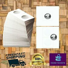 Pack of 100 High Quality Bcw Crown Paper Coin Flips Holder 2.5 x 2.5