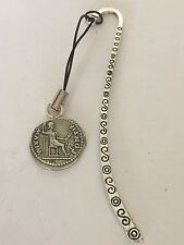 Denarius Of Tiberius Coin WC60 Fine English Pewter On A PATTERN Bookmark