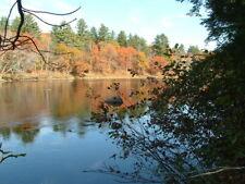 Maine cabin camp  waterfront 7.2 acres land river Owner financing bid on downpmt