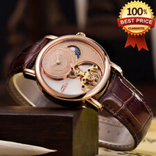 54a8bc657c1 Tourbillon Luxury Automatic Mechanical Men s Watch Business Sport Crystal  Glass