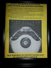 Rick Wakeman No Earthly Connection Rare Original Promo Poster Ad Framed!