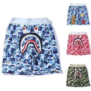 Casual Shark Camouflage Bape Short Pants A Bathing Ape Summer Men's Camo Shorts