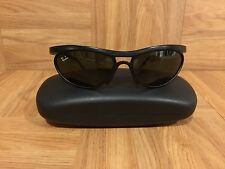VTG!🔥 1980's Ray Ban Sport Sunglasses Black Wrap Around Bausch & Lomb USA