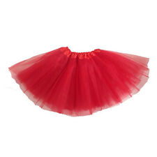 Girl Tutu Ballet Skirt Tulle Costume Fairy Party Hens Nigh 1x Ml Red