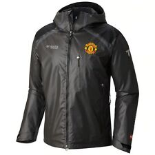 Men's $420 Columbia Manchester United OutDry Diamond Shell Hooded Jacket Black L