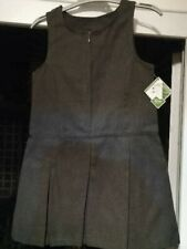 Girls School Charcoal Pinafore Dress