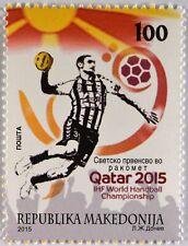 Makedonien Macedonia 2015, Michel Nr. 720, Handball-WM Männer in Quatar