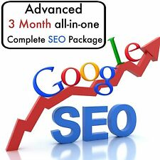 3 month ADVANCED SEO All In One Custom Plan RANK Your Website Google #1 Today