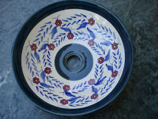 Red Clover Hand-Painted Ceramic Vessel Sink