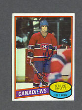 Steve Shutt signed Canadiens 1980-81 Topps hockey card
