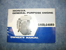 G40D / G40RD HONDA GENERAL PURPOSE ENGINE OWNERS MANUAL PRINTED 1969 G 40 D RD
